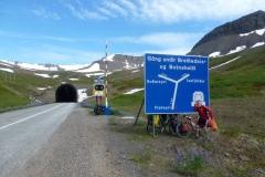 Vestfjarðagöng Tunnel -with a road junction inside