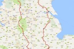 Northern England Tour Map