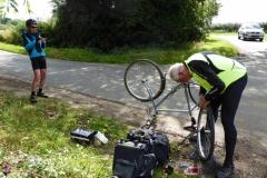 Alan has a blow out near Shipston