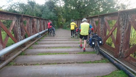 Cycle path bridge over Wye at Monmouth