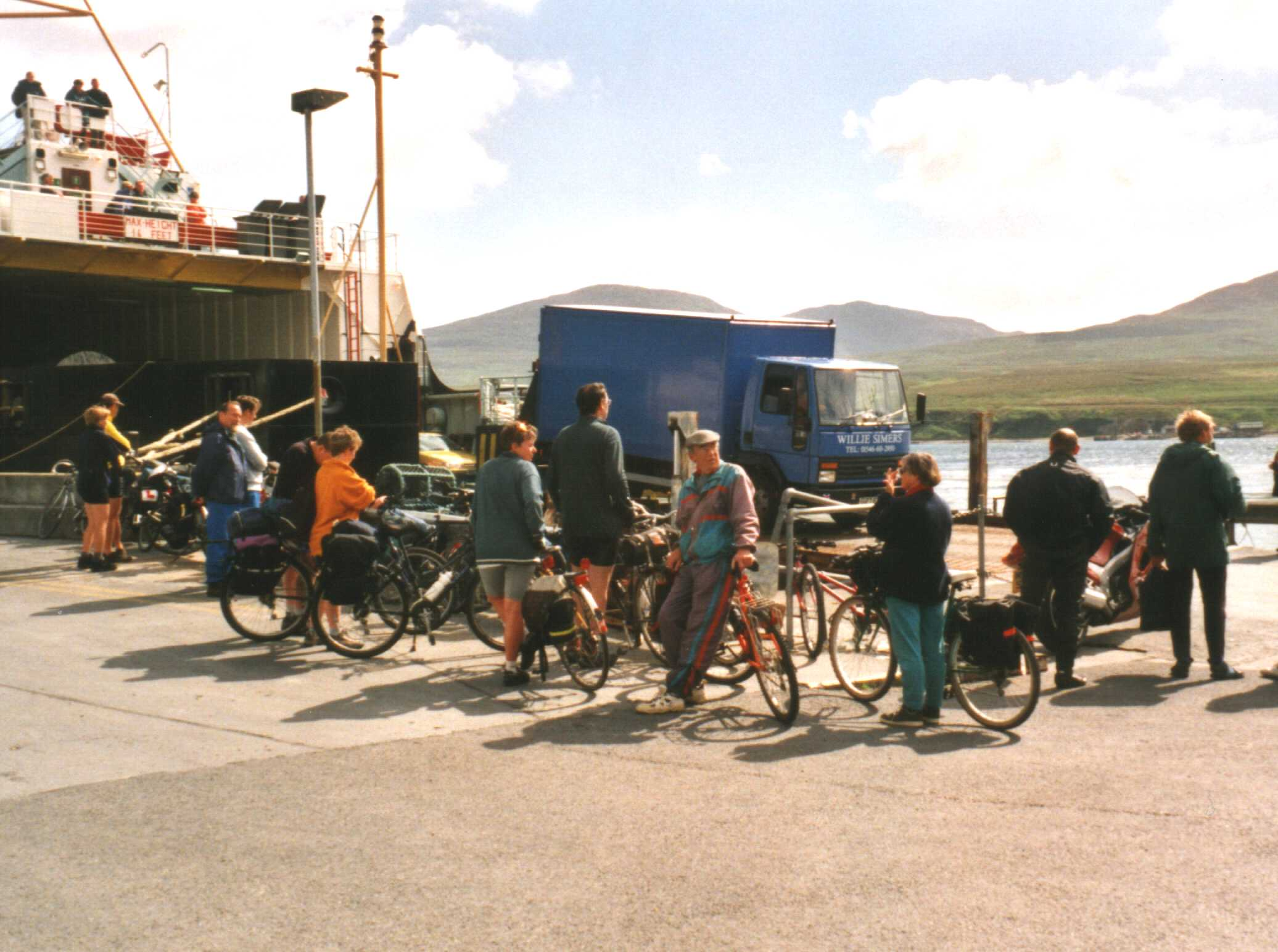 The ferry from Port Askaig, Islay to Colonsay with some more cyclists who happened to be around