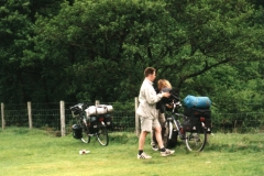 Amazing luggage carried by a couple of Dutch cyclists